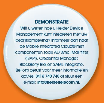 Demonstratie Helder Device Management